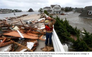 hurricane sandy with caption